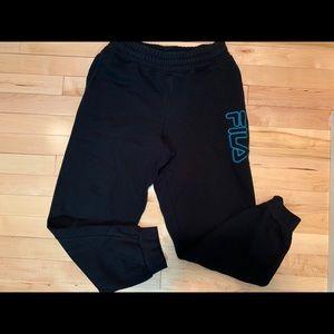 2 pairs FILA Boys Black Sweatpants Size 14-16